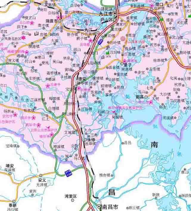 九江地图之庐山